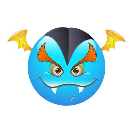 3d vampire: Smiley Emoticons Face Bat