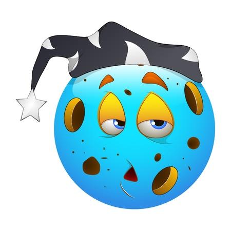 Smiley Emoticons Face Vector - Moon Stock Vector - 15808663
