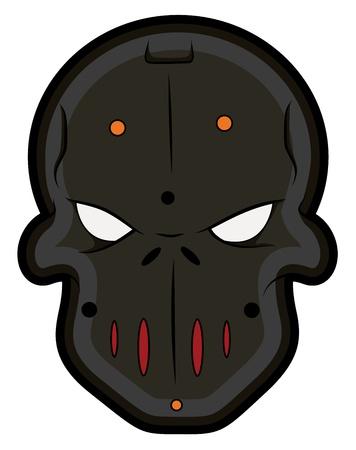 Bad Masked Tattoo Mascot Vectors Vector