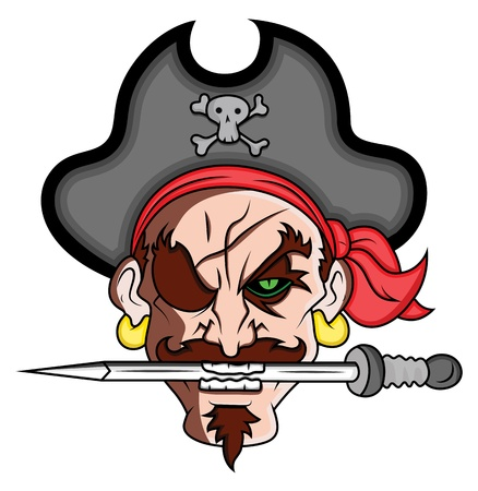 Pirate Mascot Vector Illustration Vector