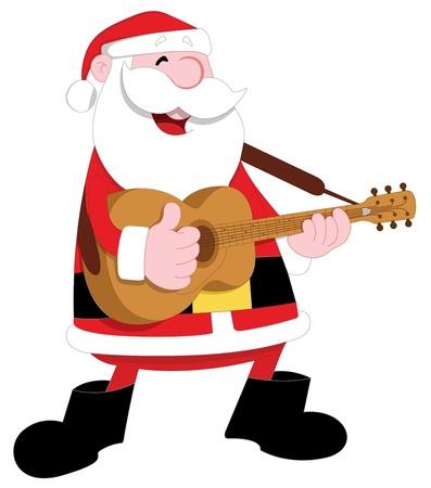 Santa Playing Guitar Stock Vector - 15808830