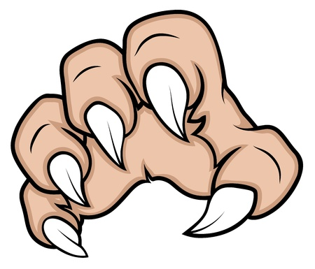 creepy hand: Zombie Nails Illustration