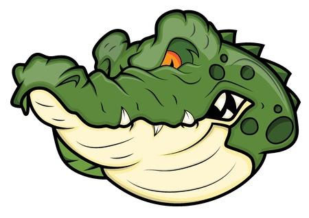 agression: Angry Mascot Vector Alligator Illustration