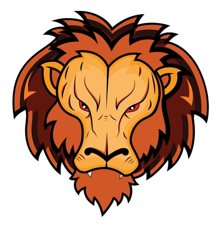 lion roar: Lion Mascot Illustration