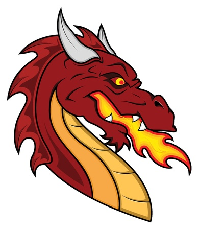 dragon fire: Dragon Vector Mascot