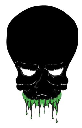 Scary Skull Vector Illustration Illustration