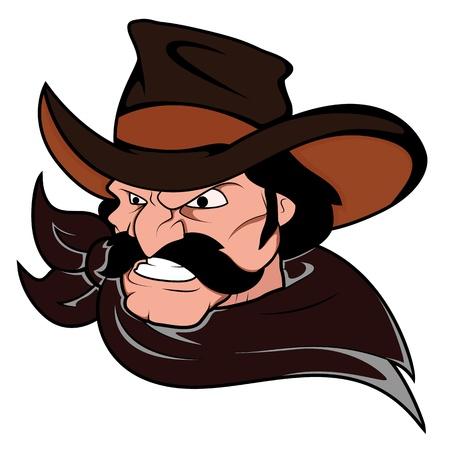 Cowboy Horse Rider Mascot Vector