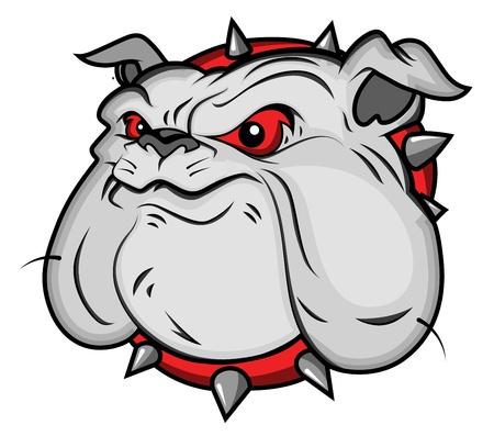 growl: Bulldog Mascot Vector Illustartion Illustration