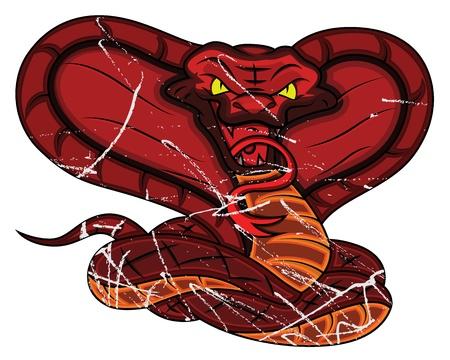 venomous snake: Serpiente enojada