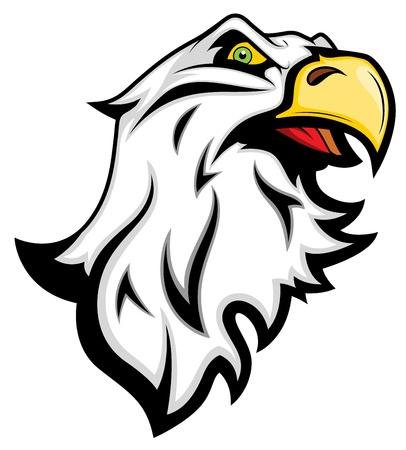 cartoon eagle: Angry Eagle Mascot