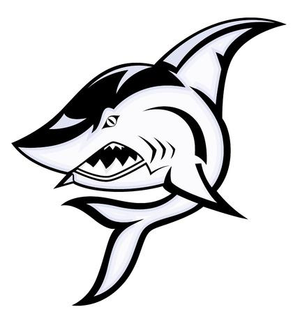 killer whale: Angry Shark Mascot Vector Illustration