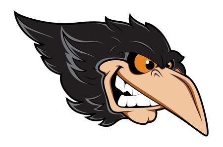Angry Crow Vector