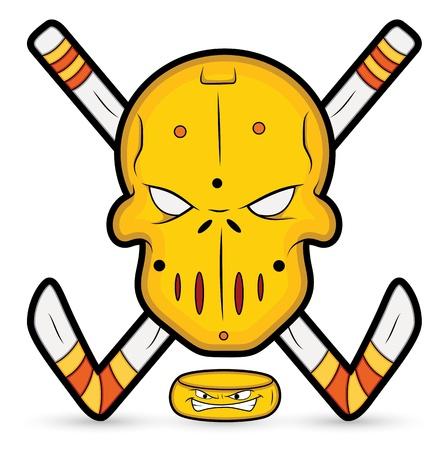 masked ball: Ice Hockey Vector Mascot