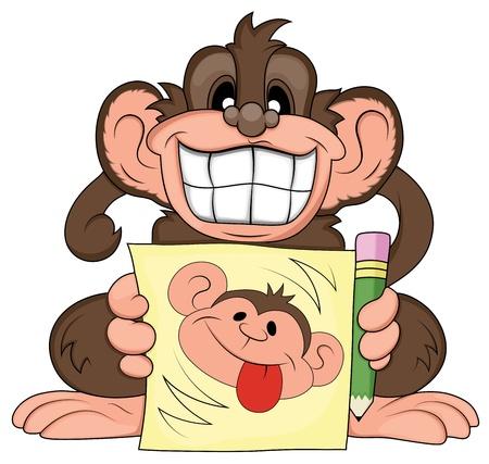 Funny Monkey Illustration Stock Vector - 15808832