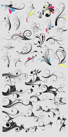 スワール: 渦巻きのデザイン  イラスト・ベクター素材