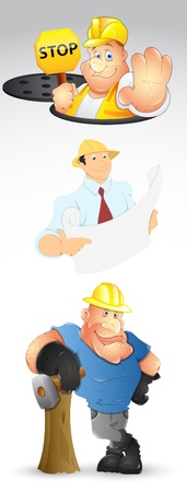 constructional: Constructional Guys Vectors Illustration