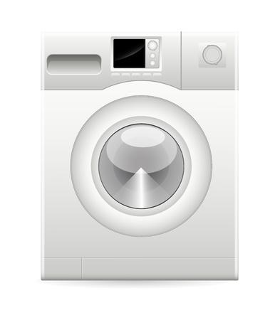 auto washing: Washing Machine Vector