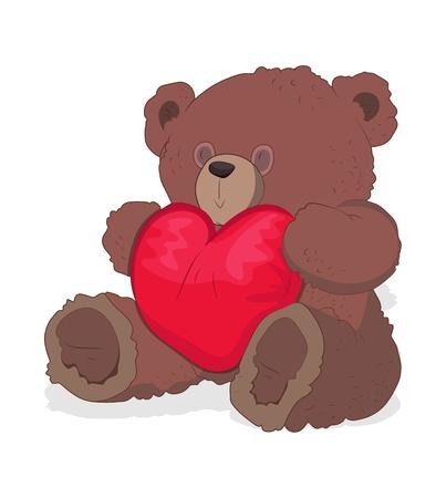 Valentine Teddy Bear Vector Vector