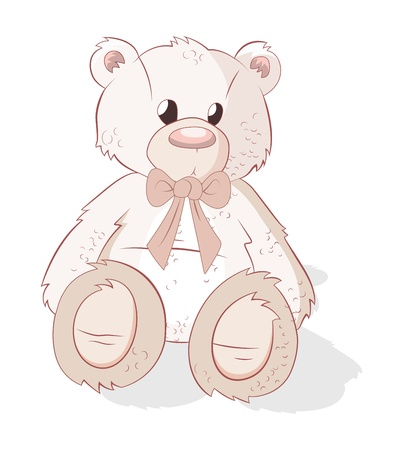 Cute Teddy Bear Vector Vector