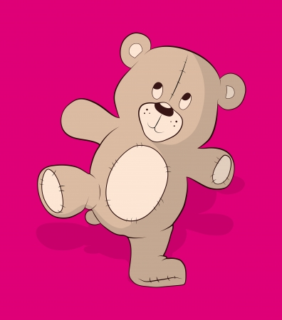 Teddy Bear Vector Illustration Stock Vector - 16104574