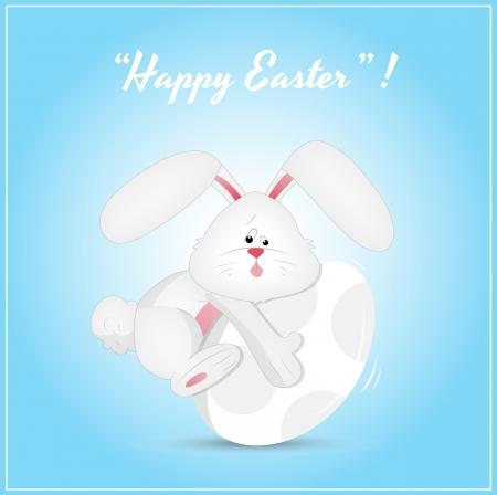 Easter Buny with an Egg - Vector Vector