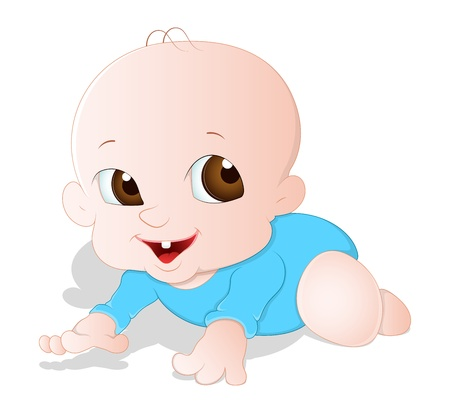 bebe gateando: Beb� Vector Crawling Vectores