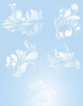 Set of Floral Vector Vector