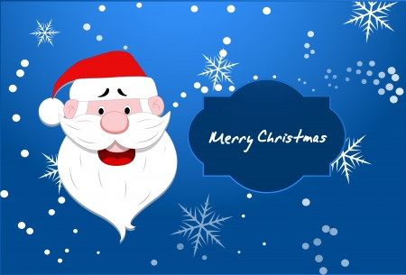 Santa Vector Christmas Background Vector