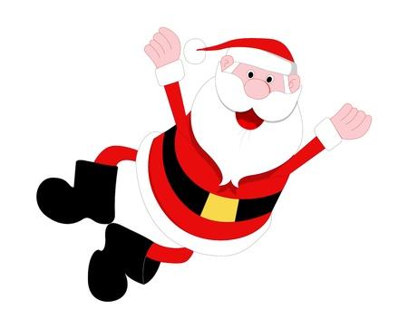 man falling: Happy Santa Illustration