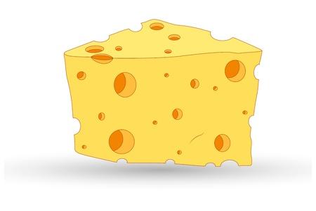 nutritious: Cheese Vector