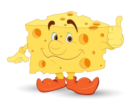 Cheese Vector Character Vector