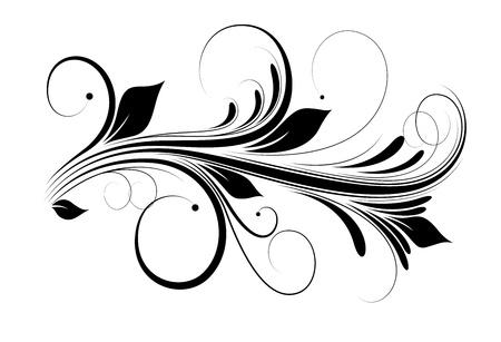 Swirly Vector elemento de diseño
