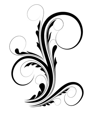 Swirl Floral Shape Stock Vector - 16104436