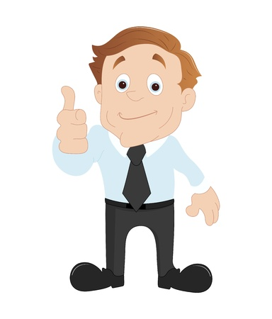 salesmen: Businessman Showing Thumbs Up