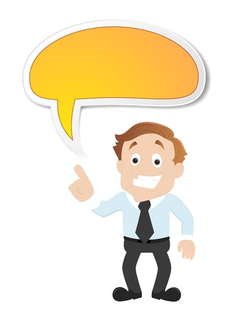 Businessman with Speech Bubble Stock Vector - 16104993