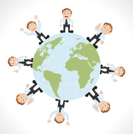 Business Around the Globe - Growth Vector Concept Vector