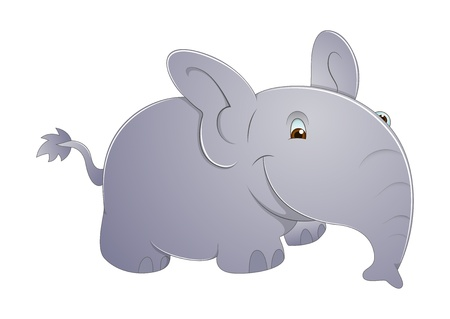 Cute Elephant Vector Vector