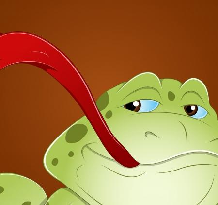 Frog Face Vector Vector
