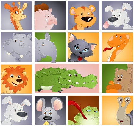 Animals Vectors - Profile Icon Concept Vector