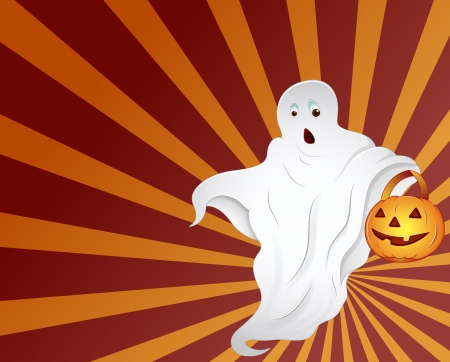 Halloween - Ghost Vector Vector