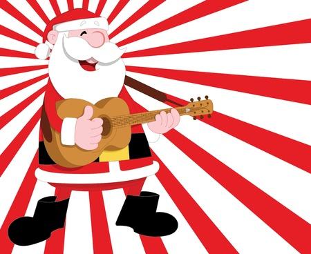 religious music: Santa Vector Illustration