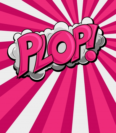 Plop - Comic Expression Vector Text Stock Vector - 16104454