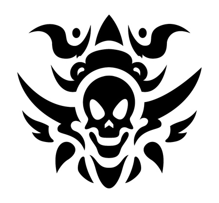 Tribal Tattoo Vector - Skull Vector