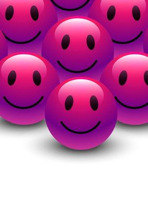 Smiley Vector Template Ilustración de vector