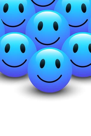 Azul Smiley Vector