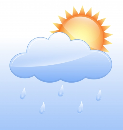 raining: Raining Vector Icon Illustration