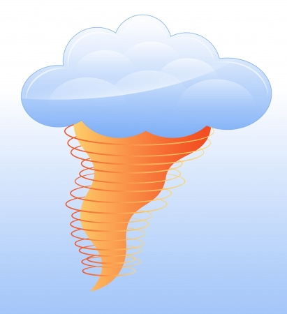Tornado Icon Vector Stock Vector - 16104651