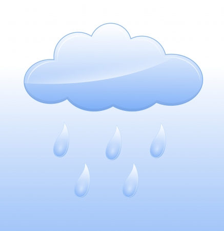 Rainy Cloud Vector Vector