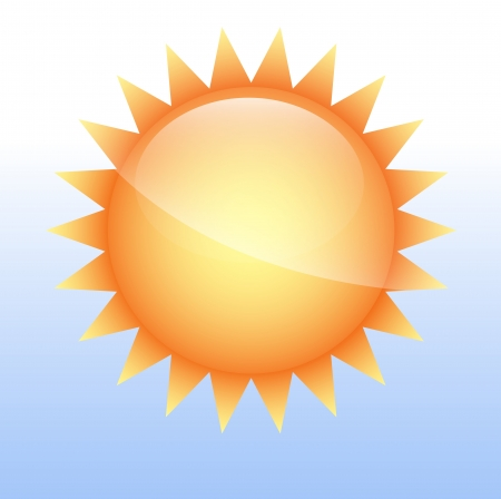 Sun Icon Vector Stock Vector - 16104792