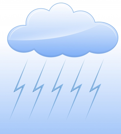 Stormy Cloud Vector Stock Vector - 16104502